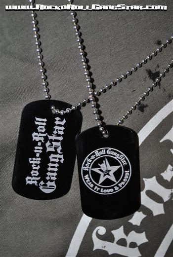 Dog Tag necklace metal laser engraved Rock n Roll GangStar